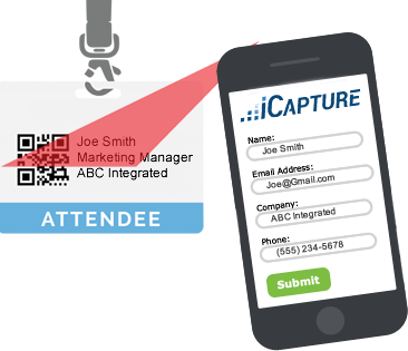 Scan badges at trade shows icapture icapture the universal answer to badge scanning reheart Image collections
