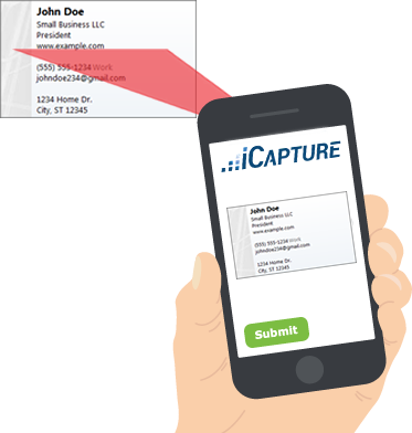 Scan business cards icapture business card scanning made easy colourmoves